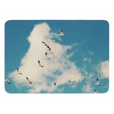 Snow Geese by Sylvia Cook Memory Foam Bath Mat