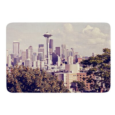 Space Needle by Sylvia Cook Memory Foam Bath Mat