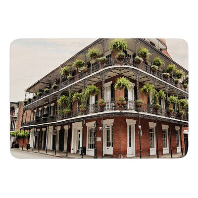 New Orleans Street Corner by Sylvia Cook Memory Foam Bath Mat