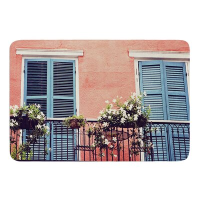 New Orleans Balcony by Sylvia Cook Memory Foam Bath Mat