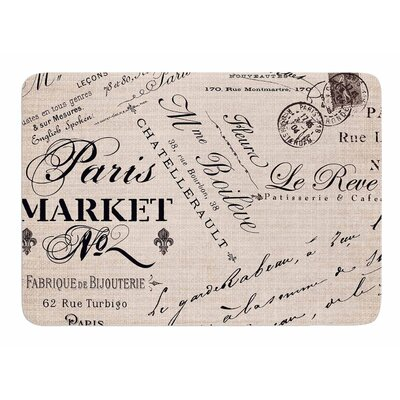 French Script by Sylvia Cook Memory Foam Bath Mat
