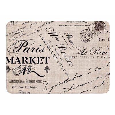 French Script by Sylvia Cook Memory Foam Bath Mat