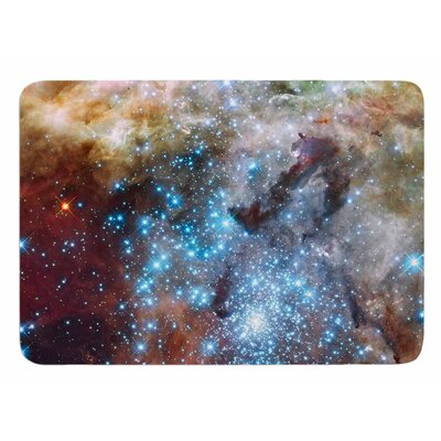 Star Cluster by Suzanne Carter Memory Foam Bath Mat