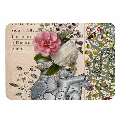 Her Heart is A Garden by Suzanne Carter Memory Foam Bath Mat