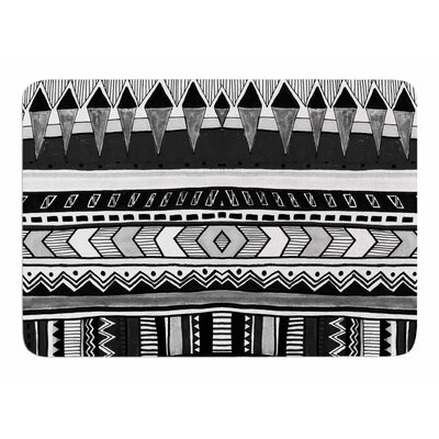 Tribal and White by Vascular Nat Memory Foam Bath Mat