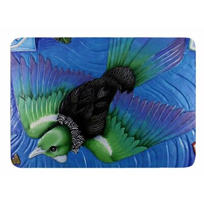 Tu Flying in Pacific Skies by Ninny Thompson Memory Foam Bath Mat