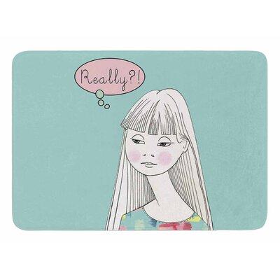 Really Retro Girl by Zara Martina Manson Memory Foam Bath Mat