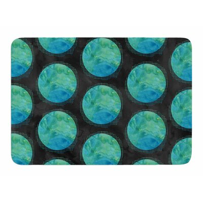 Moon Watercolor by Zara Martina Manson Memory Foam Bath Mat