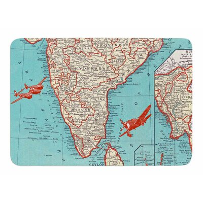 Travel To India by Catherine Holcombe Memory Foam Bath Mat