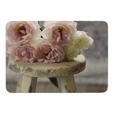 Roses on Stool by Cristina Mitchell Memory Foam Bath Mat