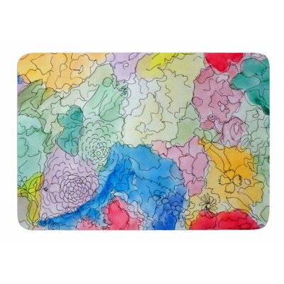 Floral Pathway by Cathy Rodgers Memory Foam Bath Mat