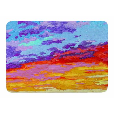 Dancing Clouds by Jeff Ferst Memory Foam Bath Mat