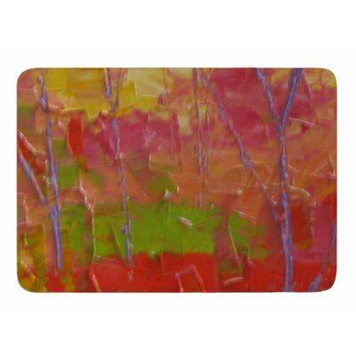 Colorful Garden by Jeff Ferst Memory Foam Bath Mat