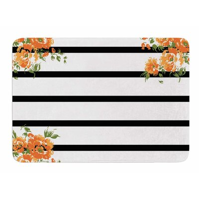 Floral Stripes by NL Designs Memory Foam Bath Mat