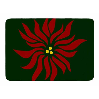 Pointsettia by NL Designs Memory Foam Bath Mat