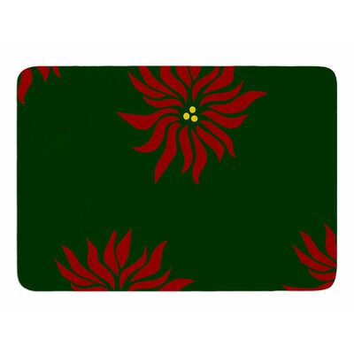 Pointsettias by NL Designs Memory Foam Bath Mat