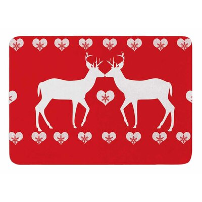 Christmas Deer 2 by Suzanne Carter Memory Foam Bath Mat