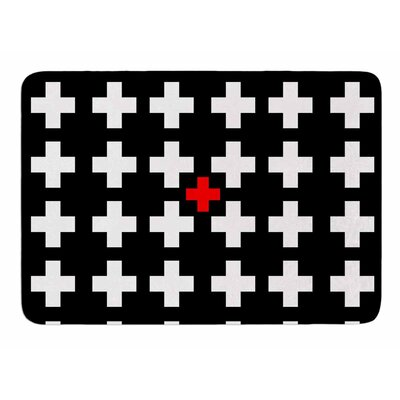 Swiss Cross by Suzanne Carter Memory Foam Bath Mat