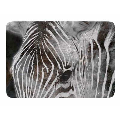 Space Zebra by Suzanne Carter Memory Foam Bath Mat