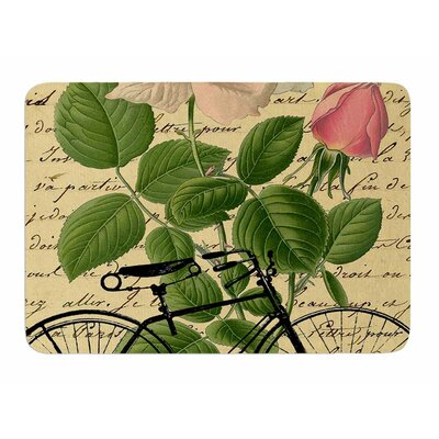 Vintage Cycle by Suzanne Carter Memory Foam Bath Mat