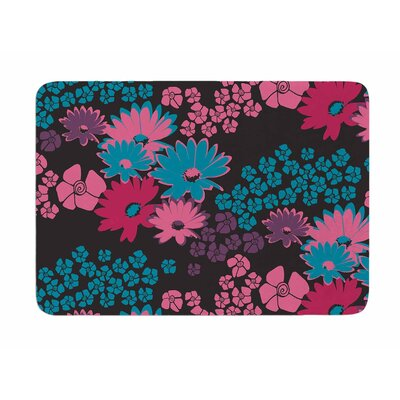 Berry Color Bouquet by Zara Martina Manson Memory Foam Bath Mat