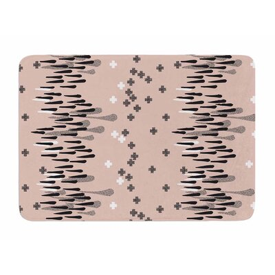 A Drop of Memphis Peach by Zara Martina Manson Memory Foam Bath Mat