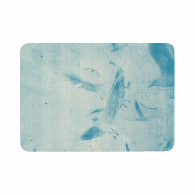 Them Birds by Frederic Levy-Hadida Memory Foam Bath Mat Color: Red