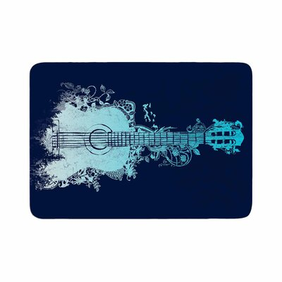 Nature Tune by Frederic Levy-Hadida Memory Foam Bath Mat Color: Blue