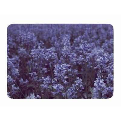 Bluebell Forest by Ann Barnes Memory Foam Bath Mat