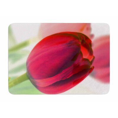 Tulips by Alison Coxon Memory Foam Bath Mat