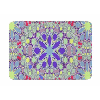 Hippy Flowers by Alison Coxon Memory Foam Bath Mat