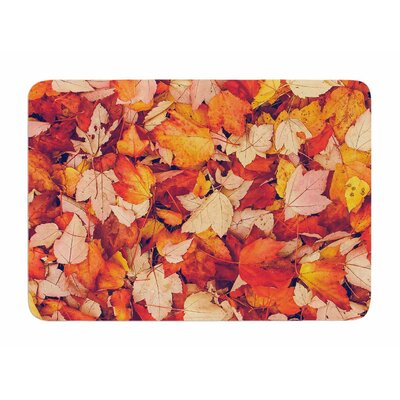 Scarlet Red by Debbra Obertanec Memory Foam Bath Mat