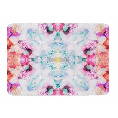 Hibiscus Kaleidoscope by Danii Pollehn Memory Foam Bath Mat