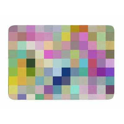 Colorful Pixels by Dawid Roc Memory Foam Bath Mat