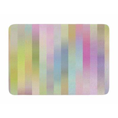 Sweet Pastel Lines 1 by Dawid Roc Memory Foam Bath Mat