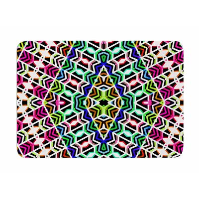 Colorful Tribal Pattern by Dawid Roc Memory Foam Bath Mat