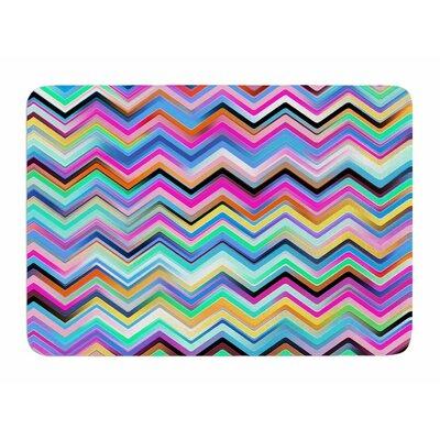 Colorful Rainbow Chevron by Dawid Roc Memory Foam Bath Mat