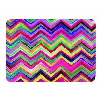 Colorful Chevron by Dawid Roc Memory Foam Bath Mat