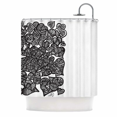 Hidden Hearts by Adriana De Leon Shower Curtain