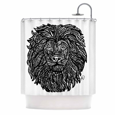 The Leon by Adriana De Leon Lion Illustration Shower Curtain