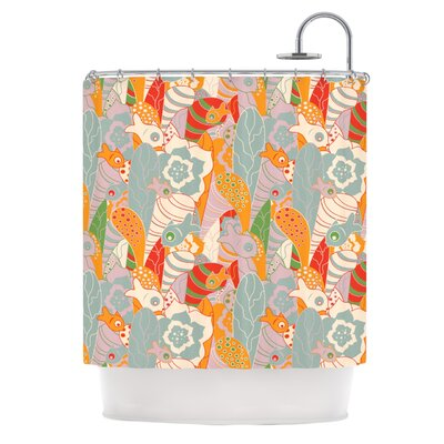 Fishes Here, Fishes There 2 by Akwaflorell Shower Curtain