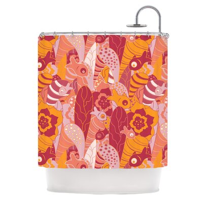 Fishes Here, Fishes There III by Akwaflorell Shower Curtain