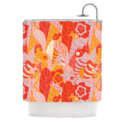 Fishes Here, Fishes There by Akwaflorell Shower Curtain