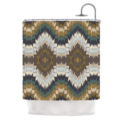 Papercuts by Akwaflorell Geometric Shower Curtain