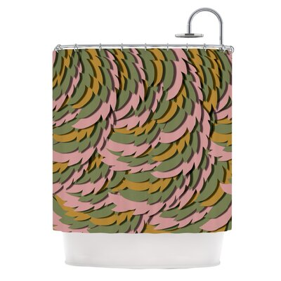 Wings II by Akwaflorell Shower Curtain Color: Pink/Green