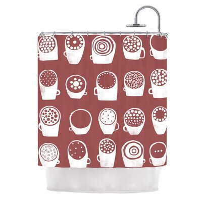 Coffee Ring by Alik Arzoumanian Shower Curtain