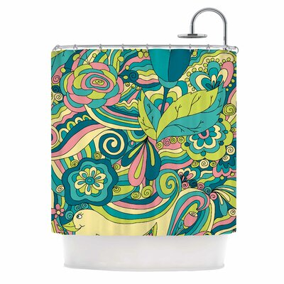 Birds in Garden by Alisa Drukman Shower Curtain