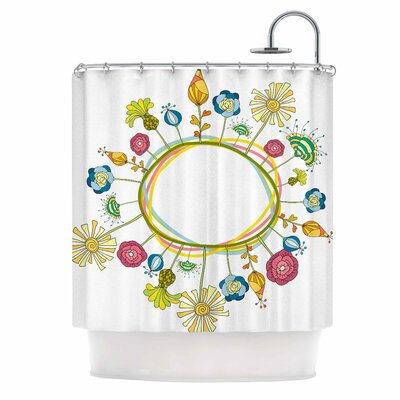 Flo by Alisa Drukman Floral Shower Curtain