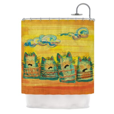 Singing Cats by Carina Povarchik Shower Curtain