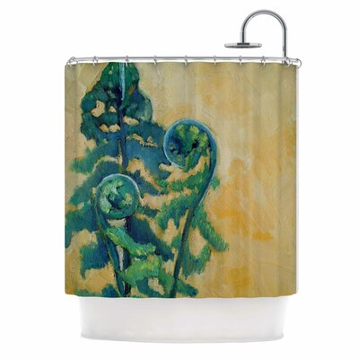 Fiddleheads by Carol Schiff Shower Curtain